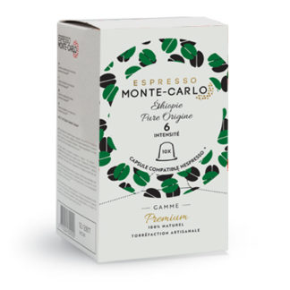 ethiopiepure origine capsules cafe compatibles nespresso