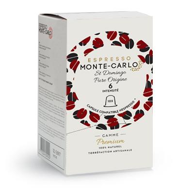santo domingo pure origin coffeee capsules cafe compatible with nespresso machines