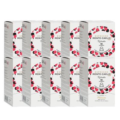 100 nespresso compatible capsules ristretto espresso monte-carlo