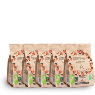 50 organic capsules biodegradable alu free nespresso compatible capsule
