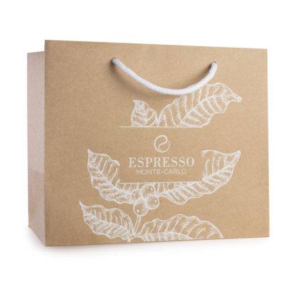 Grand sac cadeaux Espresso Monte-Carlo